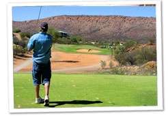 NSW senior golfer Brian Sams has conquered rivals on one of the world's top rated desert golf courses to win the 2008 Northern Territory Senior Amateur Championship.