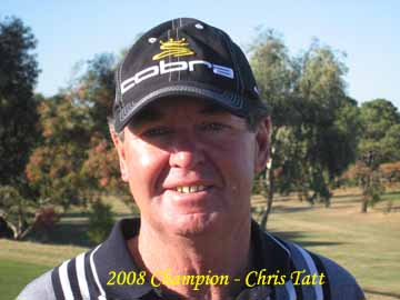 Victorian golfer Chris Tatt has blitzed the field with a three strokes win in the latest Australian Senior Order of Merit event at the Cobram-Barooga course.