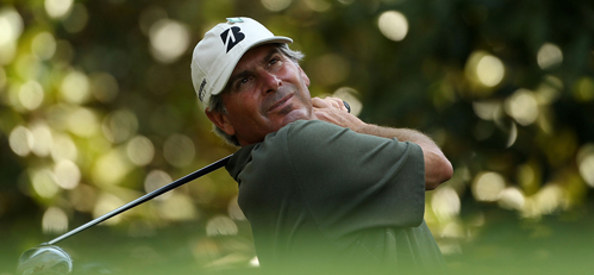 Fred Couples during a practice round at Augusta