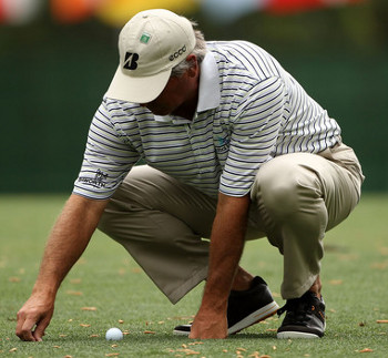 Fred Couples bares the ankles during the Ist Round of the Masters