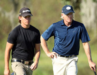 Greg Norman and son Gregory