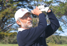 Russell Rogers tees off