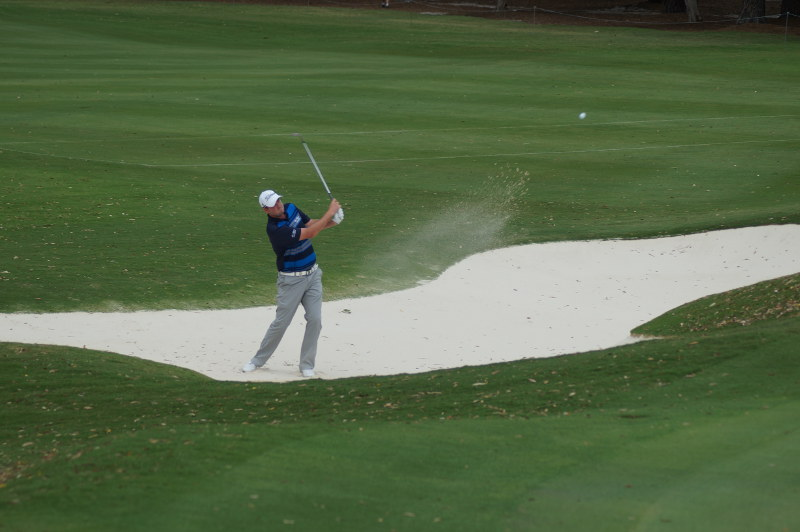 Marc Leishman on the 16th