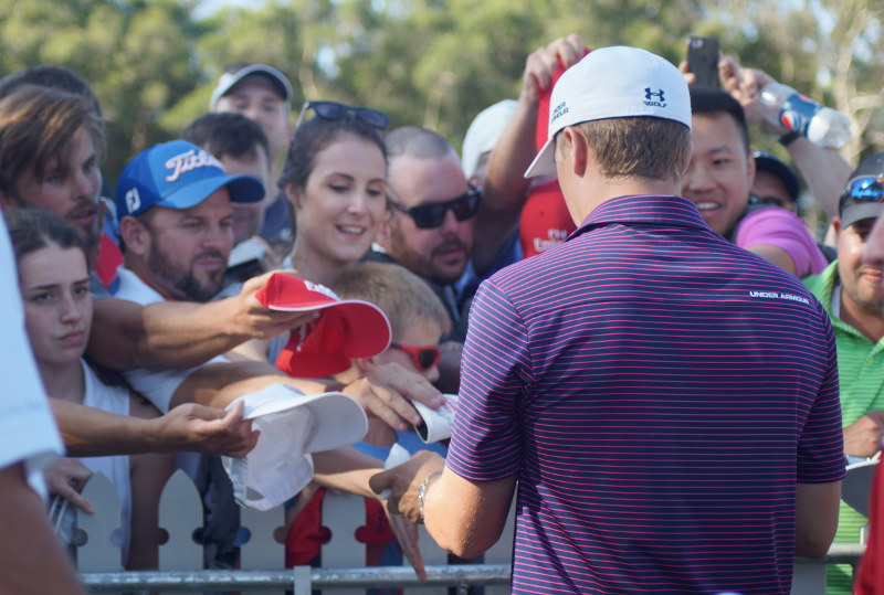 Jordan Spieth might not have won but plenty of fans still wanted his autograph