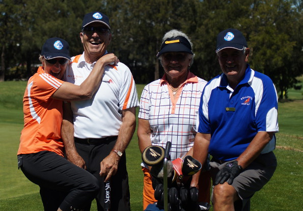 Veteran golfers having some fun at the 2013 AVGU National Championships in Canberra