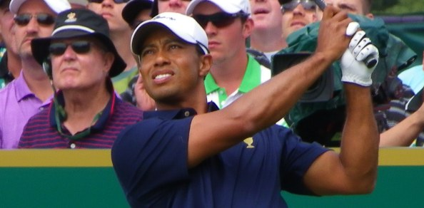 THE previously unbeaten pairing of Tiger Woods and Steve Stricker received a spanking but overall the Americans took an early lead on the first day of the 2011 Presidents Cup.