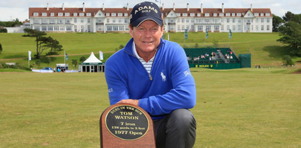 TOM WATSON has been honoured by the Turnberry Resort with a commemorative plaque unveiled at the site of one of his most memorable victories 35 years ago.
