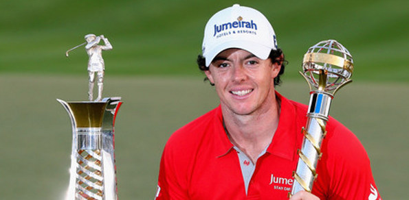 RORY MCILROY showed his real class on the weekend, responding to a course record by Ross Fisher with five straight closing birdies to snatch the 2012 European Tour's closing event.
