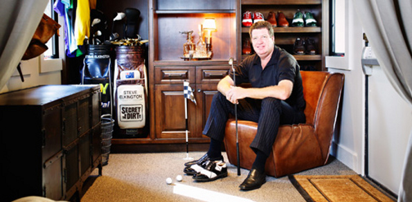 "Elkington not wanting for creature comforts inside ""The Big Show"". Photo: Golf Digest"