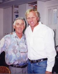 Charlie Earp with Greg Norman