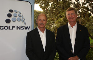Golf NSW support services team members (L-R) Graham Christian and Rod Davies