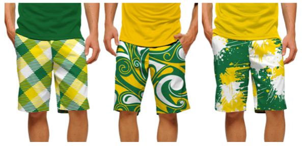 Loudmouth green and gold 595