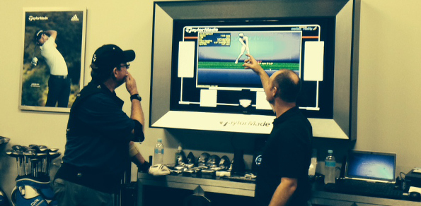 Larry Canning braves a high performance golf club fitting lab