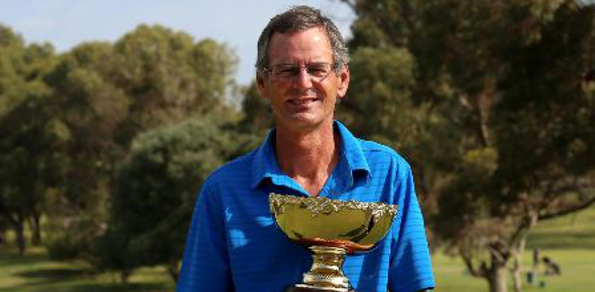 Australian Senior amateur defending champion Gordon Claney. Photo courtesy of Golf Australia