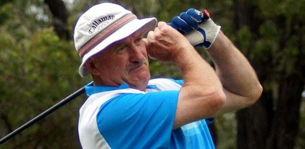 Victorian golfer John Ciezki is looking good for an unprecedented third successive national veterans title