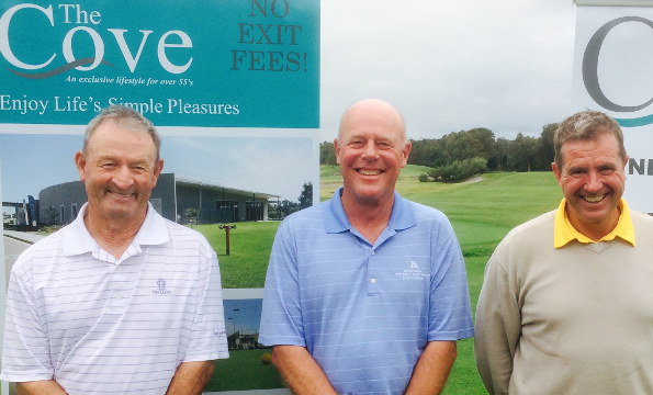 Vince Clark, Greg Stanford and Leigh Anthony – tied on 76 at Newcastle Golf Club