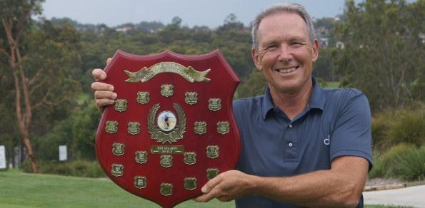 NSW Veteran Matchplay 2015  champion Wayne Gill at Charlestown Golf Club