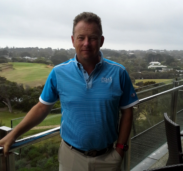 Tour Coordinator Andy Rogers at Portsea Golf Club. Rogers has his sights set on growing the tour