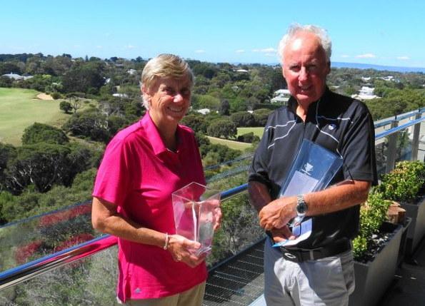 June Tickell and Wayne Aigner – champions at the 2016 Mornington Peninsula Seniors