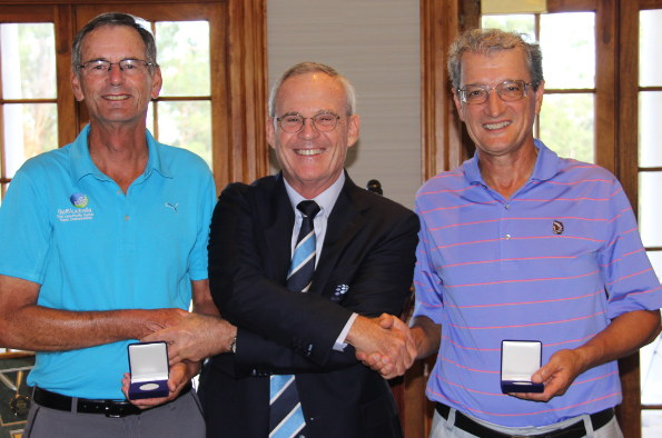 Joint NSW Senior Classic winners  Gordon Claney and Stefan Albinski