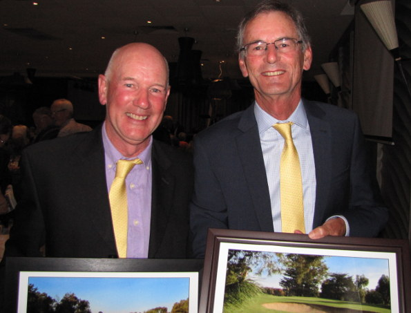 Cobram Barooga winners Ian Frost and Gordon Claney