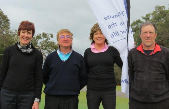 2016 Leongatha Seniors Winners: L-R: Majella O'Connor, Norman Wilson, Judith Quinn, Ken O'Brien