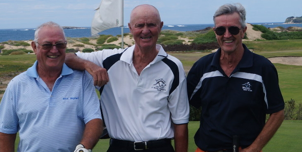 Competitors at the 2015 NSW Veteran Matchplay Championship at Belmont Golf Club