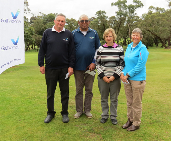 Major prize winners 2016 Lang Lang Senior Amateur –  Guy Krall, Mario Dubusson-Perrine, Lee Andrews, Heather Harley