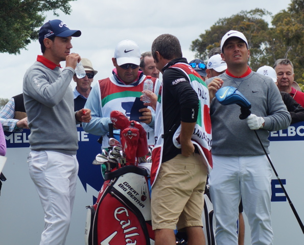 The Italian paring of Matteo Manassero and Francesco Molinari were leading the cup (as predicted by Larry Canning before tee off) until a disastrous triple bogey 8 on the 12th hole. They still finished at 1-under