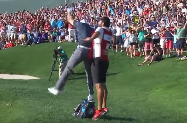 An elated Spieth holes out for 10th US PGA TOUR win: Video