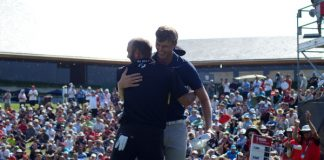 Cameron Davis celebrates at the Australian Open