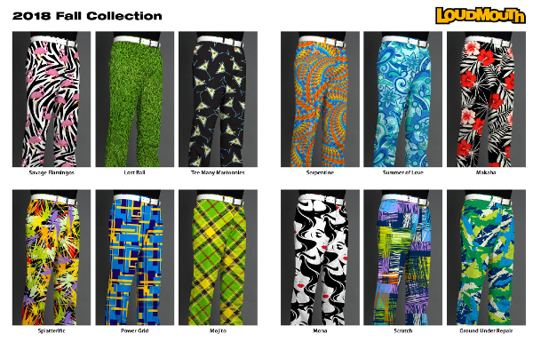 Loudmouth Golf debuts 13 new patterns for 2018 – perfect for an Aussie spring?