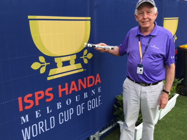 Brian the former bagman one of the characters at the 2018 World Cup of Golf