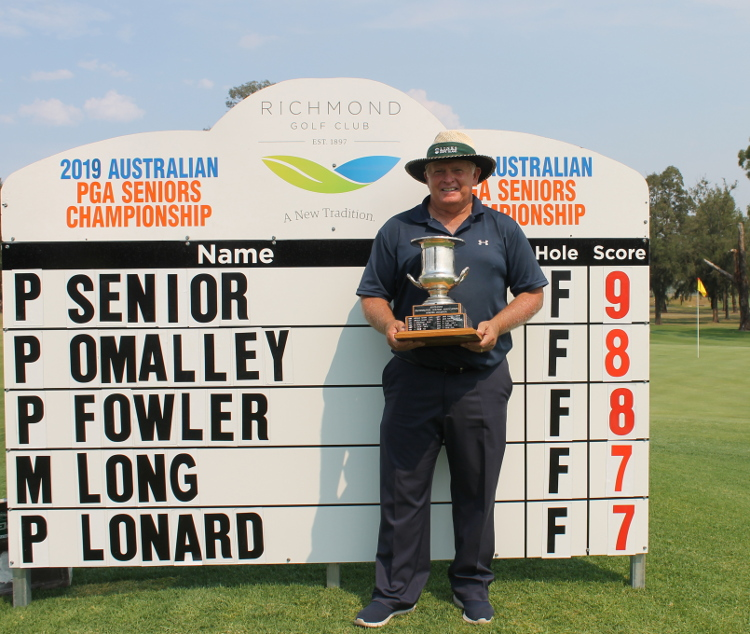 Seems to have been a long time coming but Peter Senior wins his maiden Australian PGA Seniors title