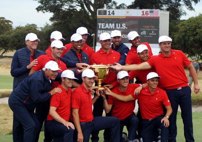 Huge crowds flock to see… the Americans win the Presidents Cup again… darn it!